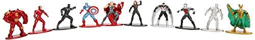 Jada- Nano MetalsFig Pack 10 Figuras Marvel Comics, Multicolor (84437)