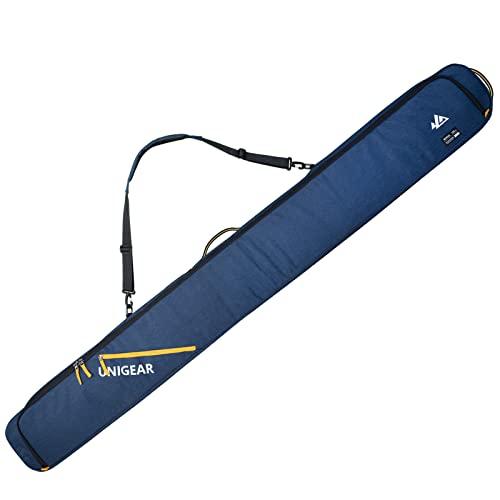 Unigear スノーボード ケース SKI-MOGUL 360°パッド入りの完全保護 スノボケース 撥水加工 耐久 3WAY 【背負い・手提げ・ショルダー】192cm以下のダブルスノーボードに適用 (ブルー)