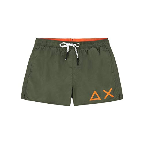 SUN68 AX Costume Boxer Uomo H19102 Verde Militare Beachwear (XL)