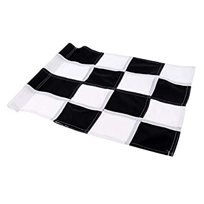 shangmu Backyard Practice Golf Putting Green Marker Practice Flags Fit for Golf Yard Hole Pole Cup Flag (Black + White)