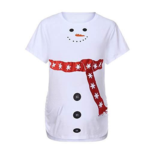 URSING Weihnachten Umstandsmode Shirt Langarm Weihnachtspulli lustiges Umstands Shirt wächst mit dem Bauch Stretch Tshirt Nachthemd Stillshirt Umstandstop Umstandsmode Schwangerschaft Geschenk