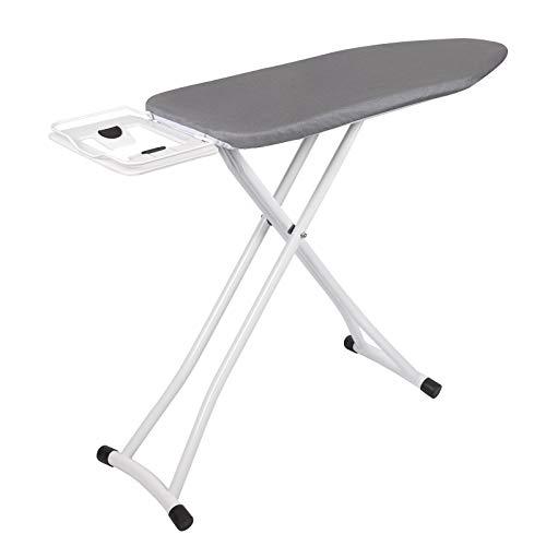 WOLTU BGT03gr Bügelbrett Grau 110x30x(74-85) cm Bügeltisch für dampfbügeleisen klappbarer Tisch für Bügeln Überzug aus 100% Baumwolle Dampfbügelgeeignet Zeitsparend