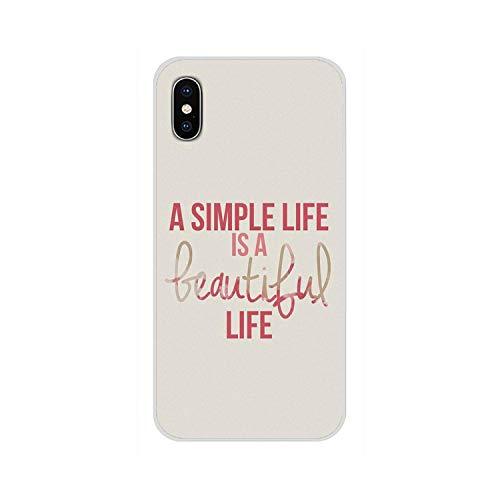 Semplice inglese parola frase circa amore una vita semplice è una bella custodia per telefono vita per iPhone-Images 8-per iPhone 6