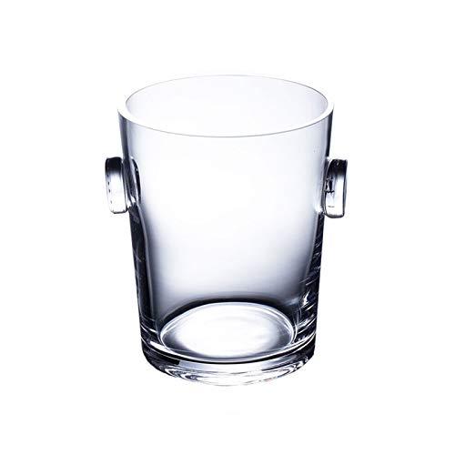 Hielera de pared Crystal 1900ml Restaurante translúcido Cubo de vino Champagne Cubo de escritorio Maceta de la flor de la cocina Almacenamiento de la cocina Cubo de hielo Cubo de champán Wine Bucket