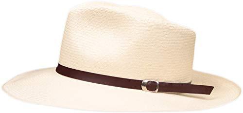 Leather Panama Hat Band - (Half Inch) (Redish Brown)