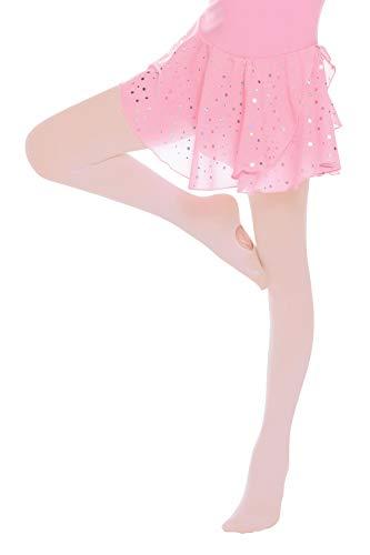 Hawiton 2 Pezzi Collant da Balletto Convertibili per Ragazze, Classica Bambina Calzamaglia Calze da Danza