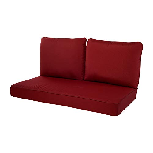 Quality Outdoor Living 29-RD02LV Loveseat Cushion, 46 x 26 3PC, Red