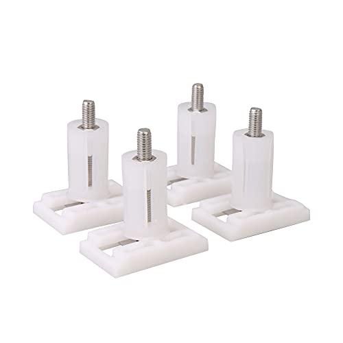 BQLZR Tornillos de repuesto para asiento de inodoro (3,6 x 2,4 cm, 4 unidades), color blanco