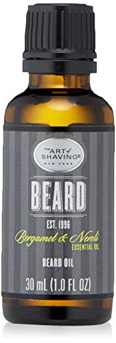 The Art of Shaving Beard Oil for Men - Shaving Oil to Tame & Moisturize Beard Hair, Leaves Healthy Shine & Non-Greasy Finish, Bergamot & Neroli, 1 Ounce