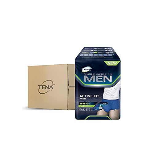 Tena Herren-Inkontinenzhosen, Active Fit Pants Plus Large, 4 Packungen à 8 Stück