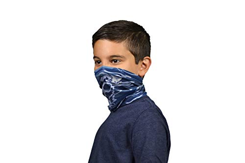 MISSION Cooling Youth Neck Gaiter 6+ Ways to Wear, Face Mask, UPF 50, Cools When Wet- Matrix Camo Bering Sea