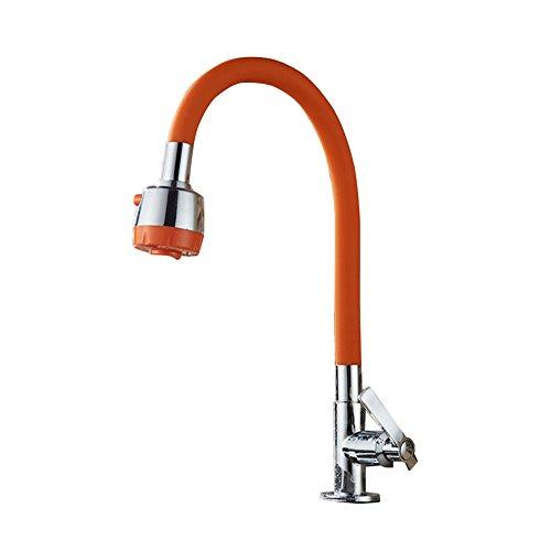 YKXWSS Wasserhahn - Alle Copper Kitchen Sink Sink Vertikal Rotating einzelner kalter Hahn/Balkon Waschraum Pool Horizontal Wand Hahn Wasserhahn (Color : B1)