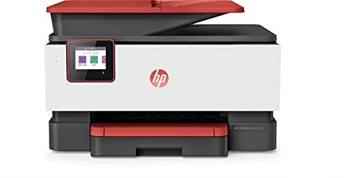 HP OfficeJet Pro 9016 3UK86B, Impresora Multifunción Tinta, Imprime, Escanea, Copia y Fax, Wi-Fi, Ethernet, USB 2.0, HP Smart App, Incluye 2 Meses del Servicio Instant Ink, Roja