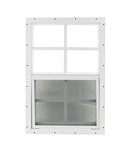 """Shed Windows and More USA Made 18"""" x 27"""" Tempered Glass White Flush Shed Windows Chicken Coop Playhouse Windows"""