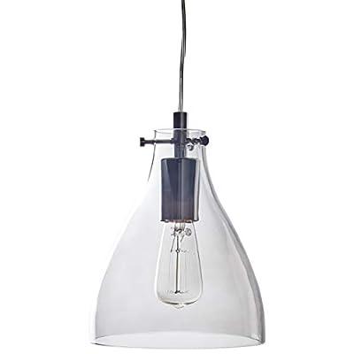 Stone & Beam Modern Smoked Glass Pendant with Bulb