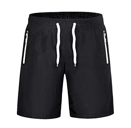 JURTEE Bañador Playa Hombre Corto Verano Moda Casuales Sólido De Color Secado Rápido Pantalones con Cordón