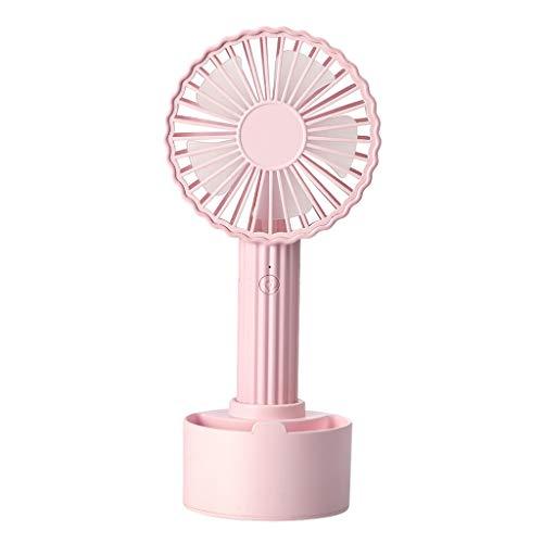 simpyfine - Mini Ventilador con Forma de Cactus (USB, Recargable, con Ajustable, portátil, Ideal para casa, Oficina, Viaje y Biblioteca) Rosa Rosa