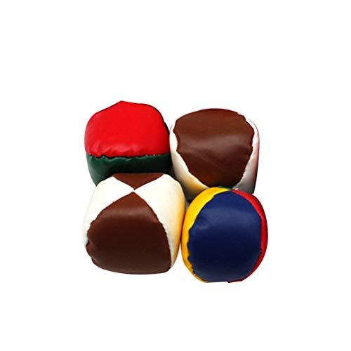 YeahiBaby 4 stücke Jonglierbälle Jonglieren Sitzsack Spielzeug Indoor Outdoor Spielen Spielzeug für Kinder (Gelegentliche Farbe)