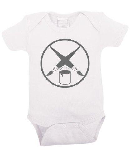clothinx - Maler Zunft - Babybody Weiß, Größe 12/18 Monate