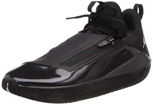 Nike Jordan Jumpman Hustle, Chaussures de Basketball Homme, Noir (White/Black 001), 42 EU
