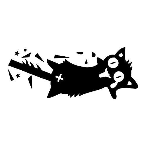 Coches y Motos Pinzas de Dibujos Animados Cat Creative Wall Etiquetas engomadas Divertidas Sala de Estar Dormitorio Decorativo Pegatinas de Pared Pegatinas de Coche (18x7cm) (Color : 1)