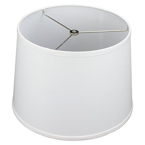 FenchelShades.com 12' Top Diameter x 14' Bottom Diameter 10' Slant Height Fabric Barrel Lampshade Spider Attachment (White)