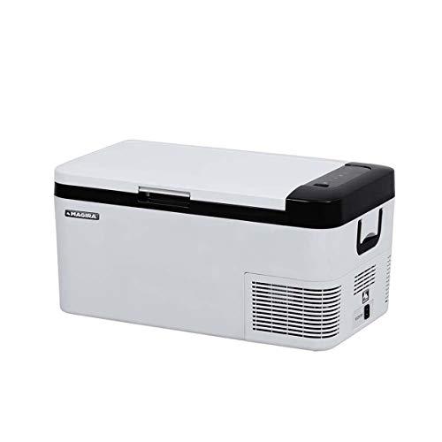 MAGIRA Cuba 18 Liter leichte Kompressor-Kühlbox 12V/24V und 230V CB18-C elektrischer Mini-Kühlschrank für Camping, Auto oder LKW mit Steckdose und USB-Anschluss