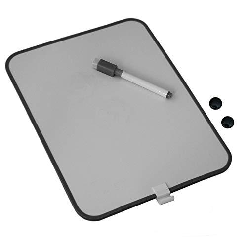 Mini 28x22cm Whiteboard mit 2x Magnete, Magnettafel, Pinnwand, Memoboard, Magnetboard, Schreibtafel inkl. Board-Marker