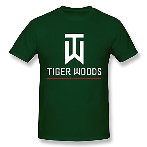 Tiger Woods Camiseta gr¨¢fica de Manga Corta de Algod¨n a la Moda para Hombres y j¨Venes, 6X-Large