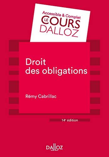 Droit des obligations - 14e ed.