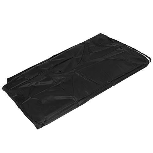 Funda para silla de columpio de alta calidad, 230 x 200 cm, protege de la lluvia, fácil de soplar, protector de muebles para exteriores, tela Oxford 210d hecha (negro)