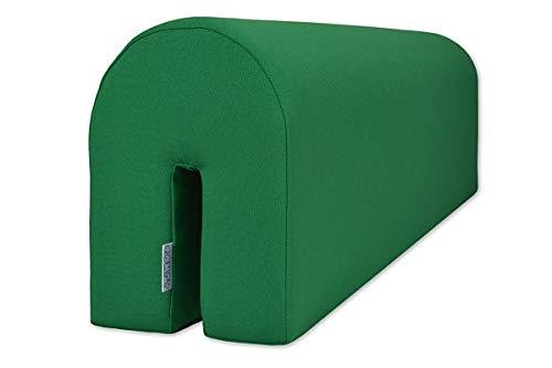 Bettumrandung zum Schutz Ihres Kleinkindes - Sicher und bequem für Ihr Kind - Schaumstoffschutz, grün, 14x20x73