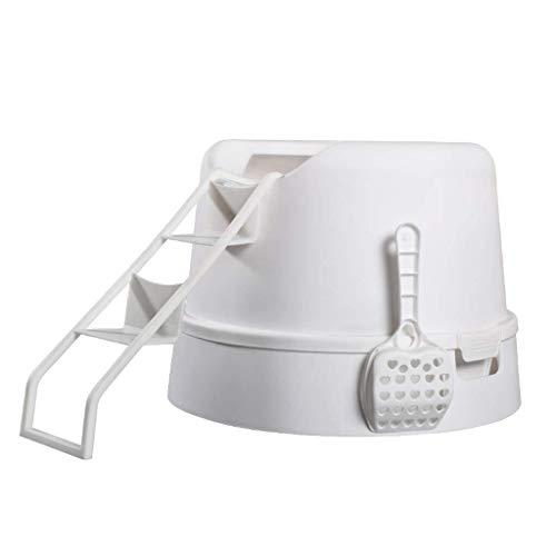 Kaper Go Muebles de caja de arena for gatos, cápsula espacial for gatos, inodoro grande y plegable for gatos, desodorante automático, mesa de noche for el hogar del gato, caja de arena for gatos en el