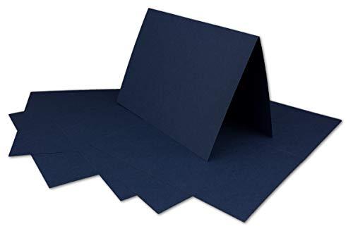 50 DIN A6 Faltkarten Dunkelblau - Karten zum selbstgestalten 14,8 x 21 cm - Klappkarten mit 160 g/m² - Colours-4-you von Glüxx Agent