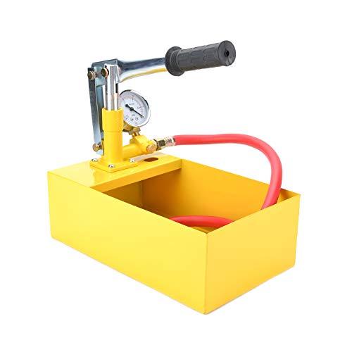 YORKING 5 Liter Manuelle Abdrückpumpe 25bar Prüfpumpe für Dichtheitsprüfung Testpumpe Heizung Wasser Handpumpe Befüllpumpe mit 1/2
