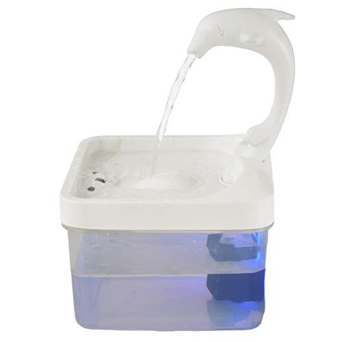 Katzenbrunnen, Schwanenhals Katzenwasserspender Automatische Schleife Living Spring Waterer Hocheffizientes Filtersystem Dolphin LED Automatischer Trinkbrunnen Für Katzenhunde, Super Silent Work