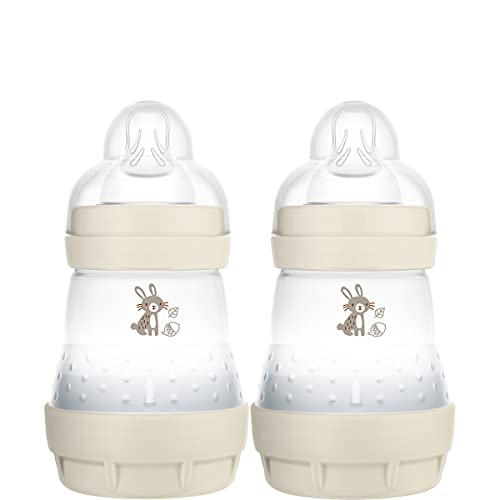 MAM Easy Start Colours of Nature - Biberon autosterilizzante anti coliche (2 x 160 ml) con tettarelle MAM, biberon per bambini con coliche ridotte