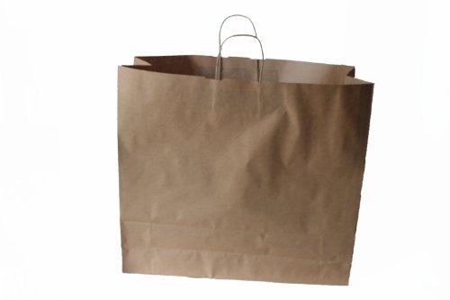 Papiertragetaschen mit Kordel BRAUN extra groß 54 + 14 x 50 cm (25 Stück)