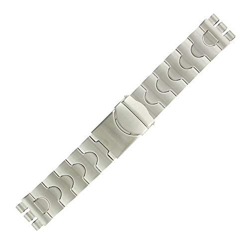 ROWI FIXOFLEX Correa de reloj adaptable reloj Irony Chrono Swatch de acero 20 mm