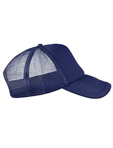 Trucker Cap Mütze Classic Happy für Herren und Damen, One Size Snapback (Dark Blue)