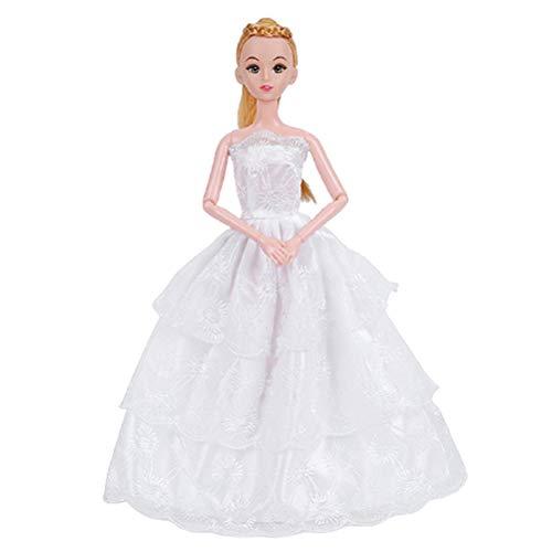 Ropa de muñeca Vestidos de boda Vestidos de moda Vestidos de fiesta de boda Vestidos de fiesta Vestidos de traje de traje de juguetes para niños Navidad cumpleaños