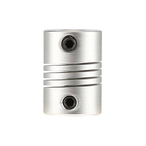 HGJVBFGH1 6x6mm CNC Motor Jaw Shaft Coupler 6mm To 6mm Flexible Coupling OD 16x23mm Silver