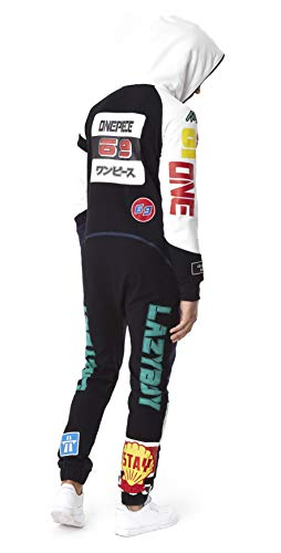 OnePiece Damen Jumpsuit Unisex Moto, Schwarz (Black) - 5
