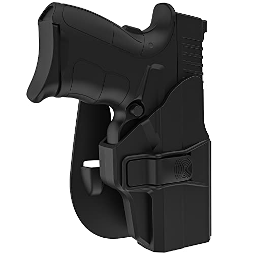 Paddle Holsters for Springfield XD-S 3.3'' Pistol, OWB Holster for Springfield XDS / XDS Mod.2 9mm/.40/.45 3.3', 60° Adjustable Paddle Cant Index Finger Release Gun Open Carry Holsters, Right-Handed