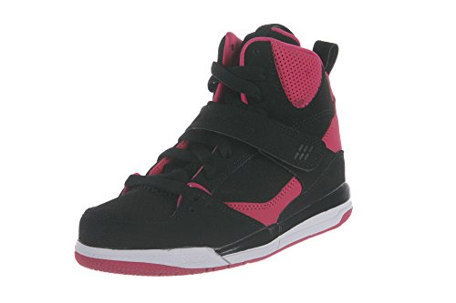 Air Jordan Kids 1 Retro High Shoes, Black/Vivid Pink-Vivid Pink, 13 M US Little Kid