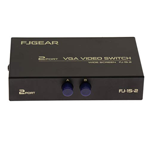 H HILABEE VGA Swicther Box 2 en 1 con Interruptor Manual