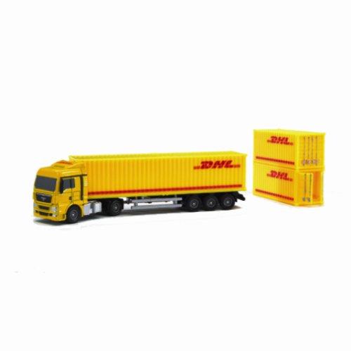 Bruder MAN Vrachtwagen met DHL container, oplegger, sleutelhanger en schroevendraaier
