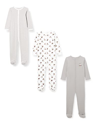 NAME IT NBNNIGHTSUIT 3P W/F Alloy Bear Noos Mamelucos para bebés pequeños, Aleación, 92 cm Unisex niños