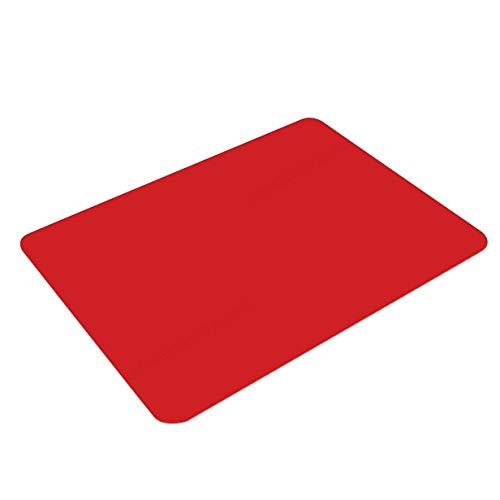 KANGIRU Alfombrilla Impermeable para protección de Escritorio Alfombrilla Antideslizante Resistente al Deslizamiento (Rojo)
