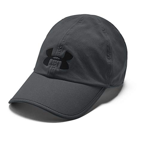 Under Armour Adult Run Shadow Cap , Pitch Gray (012)/Black , One Size Fits All